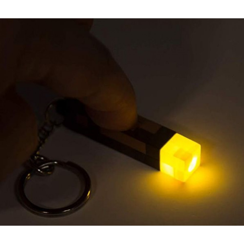 Брелок Minecraft - 3D Light-Up Torch