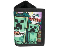 Гаманець Minecraft - Steve Overworld Tri-Fold Wallet with Coin Pouch