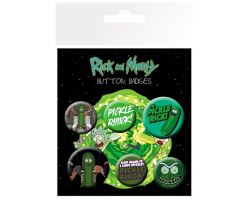 Набір значків Rick and Morty Pickle Rick