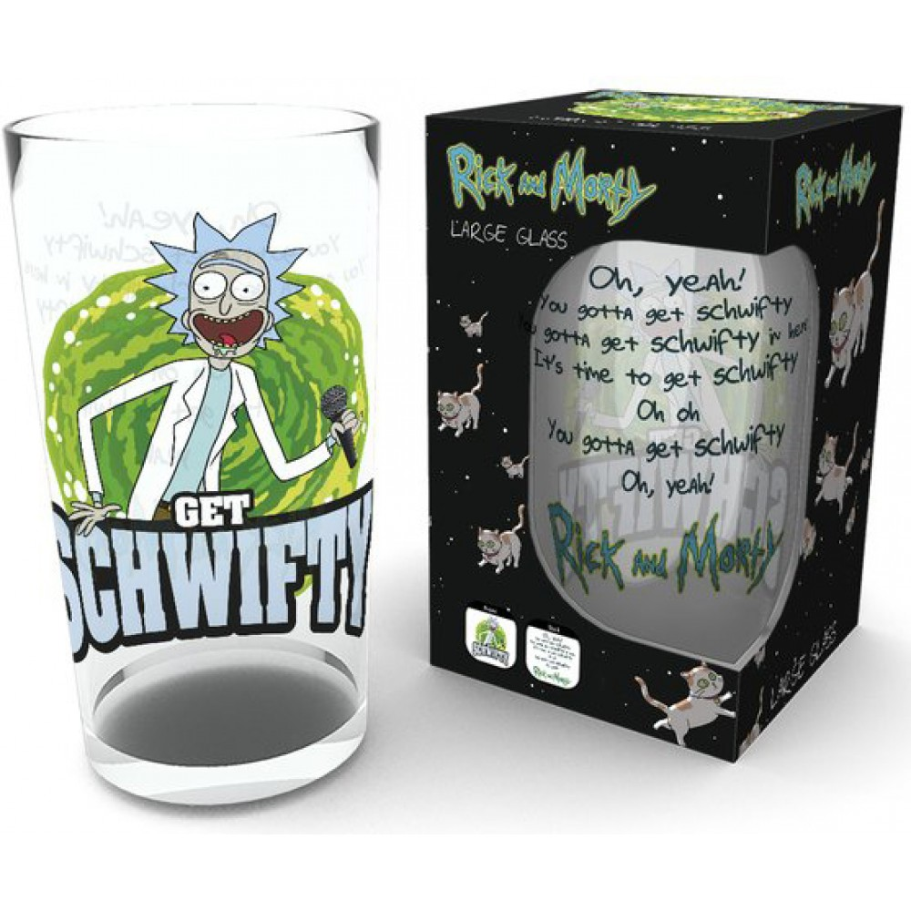 Склянка Rick and Morty - Get Schwifty